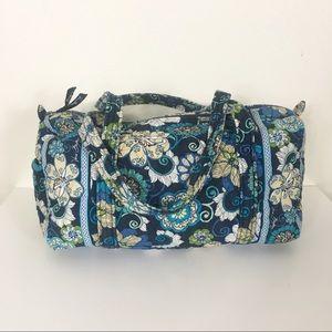 Vera Bradley Blue Floral Duffle Weekender Bag